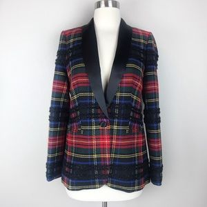 J. Crew Women's Parke Plaid Shawl Collar Blazer